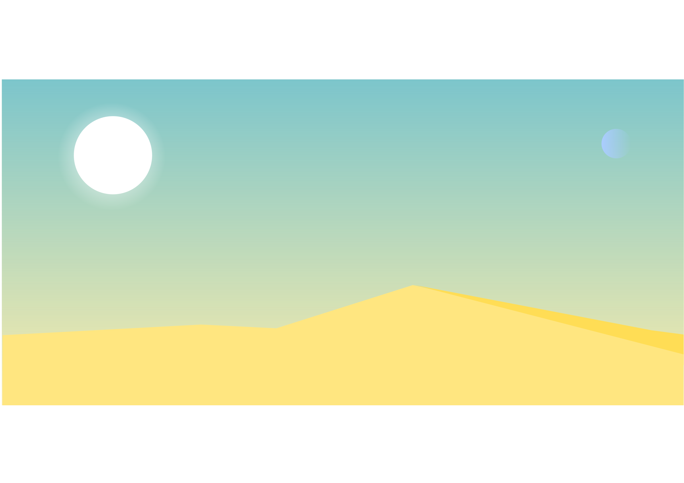 Clipart empty desert landscape.
