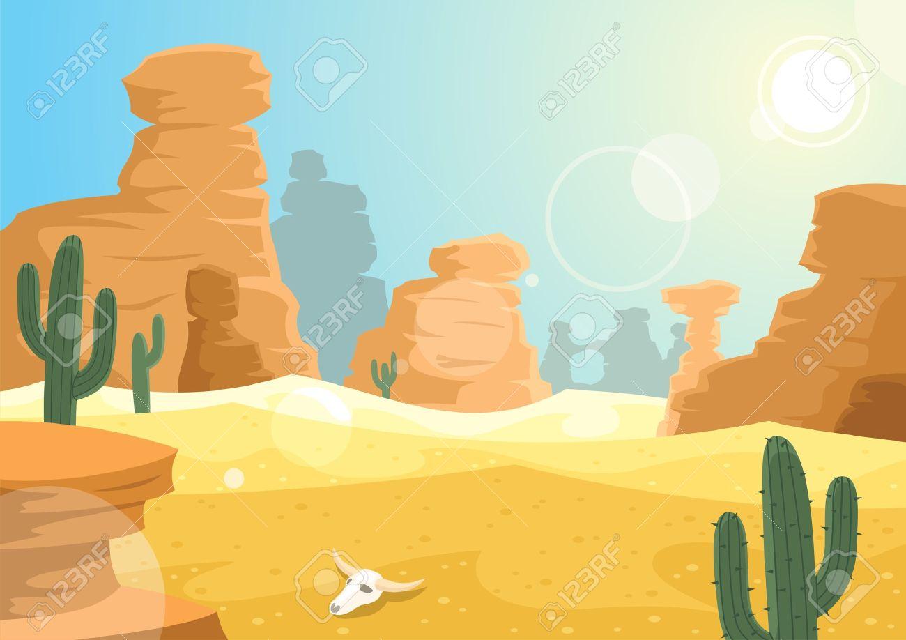 A desert landscape. No transparency used..