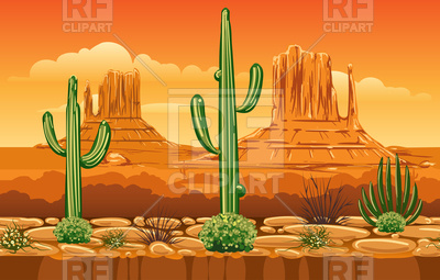 Game horizontal seamless pattern with wild west desert landscape Vector  Image.
