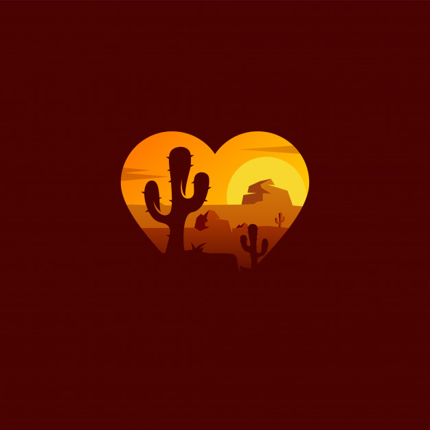 Desert logo design Vector.