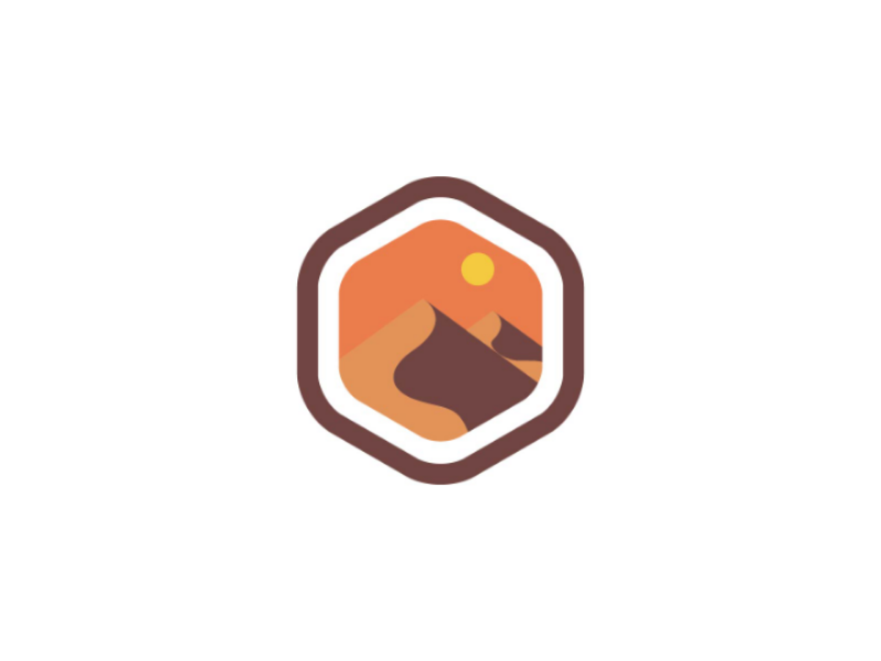 Desert Logo by Brand Semut on Dribbble.