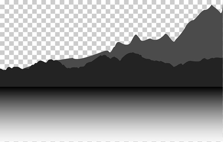 Gratis, Desert mountain PNG clipart.