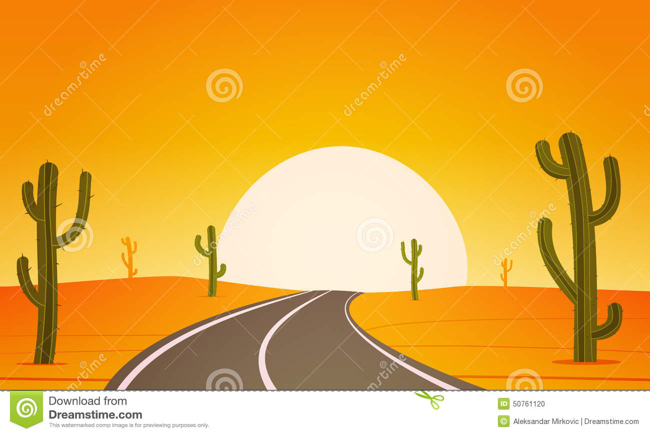 Desert road clipart.
