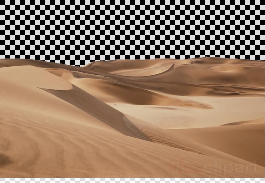 desert sand erg natural environment aeolian landform clipart.
