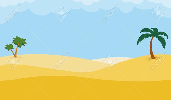 Desert Scene Clipart.