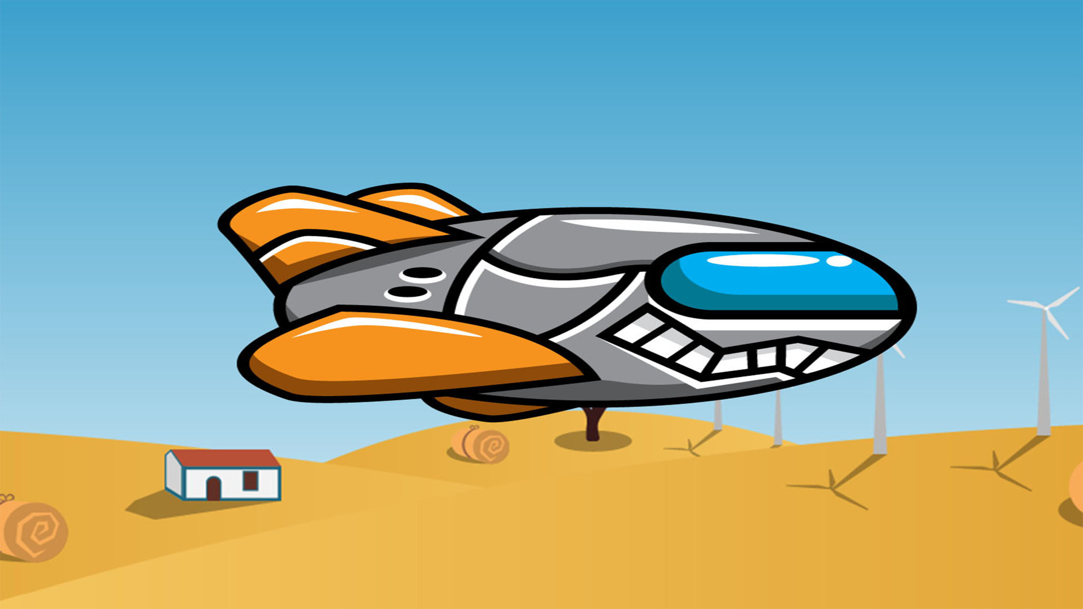 Spaceship Racer: Desert Ship by A.