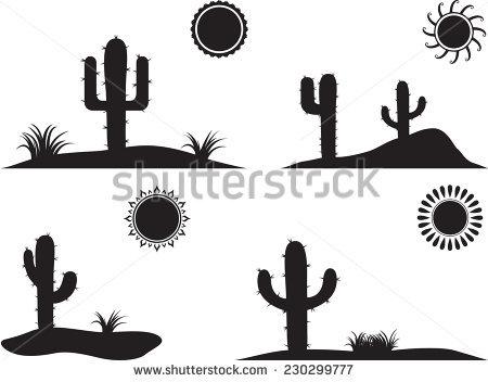 Desert Landscape Cactus Stock Photos, Royalty.