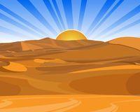 Sunrise (sunset) in desert.