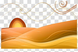 Sunrise Desert transparent background PNG cliparts free.
