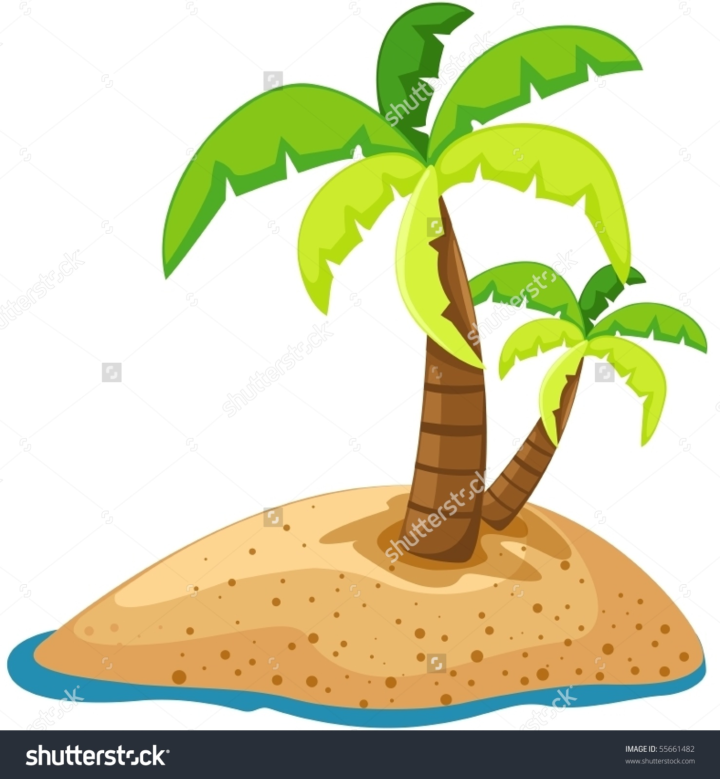 Clipart Desert Island Palm Tree.