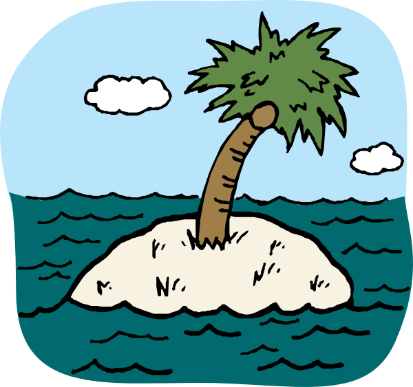 Desert Island Clipart.