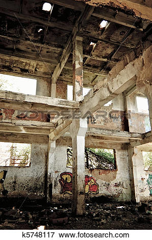 Picture of Industrial landscape: abandoned ruins k5748117.