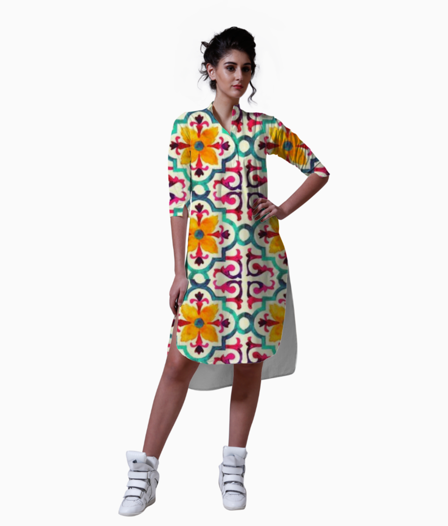 DESI GIRL WOMEN'S PRINTED KURTA.