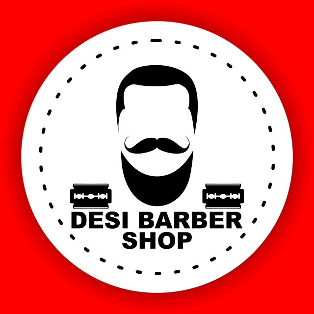 Red Desi Barber Shop Design, Barber, Shop, Logo PNG and Vector with.