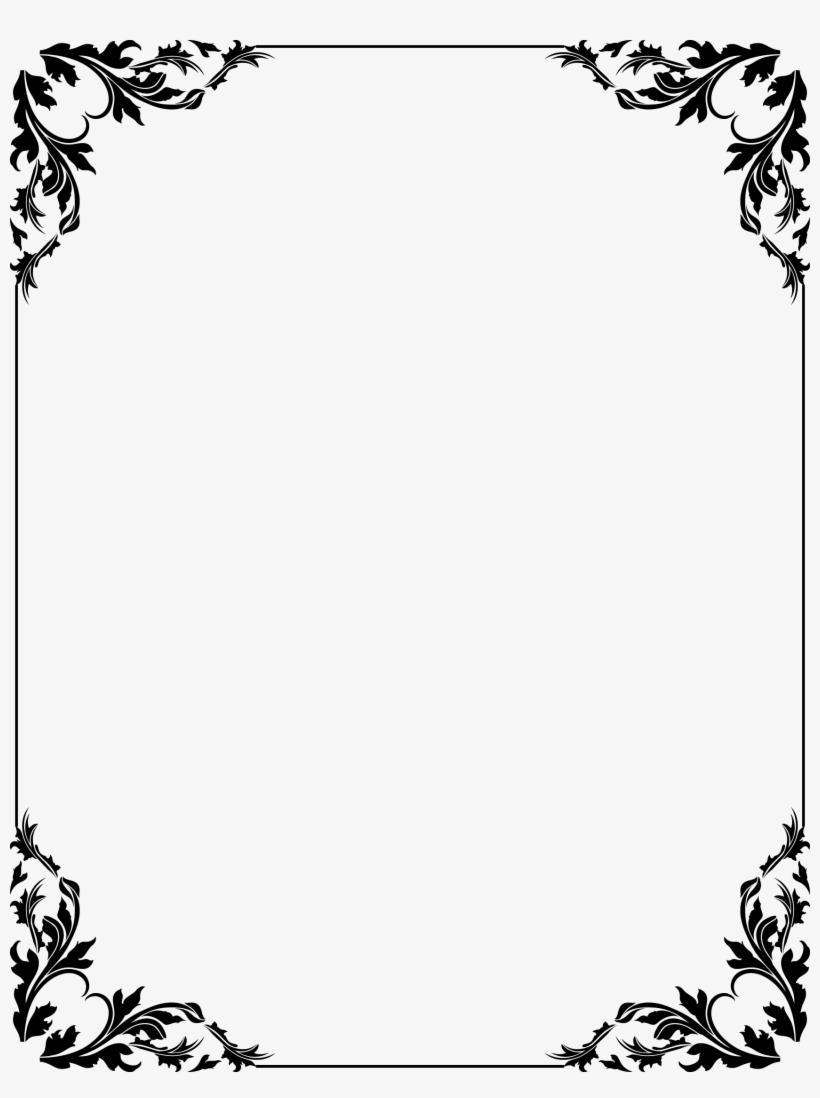 Stencil Frame Border Design, Page Borders Design, Borders.