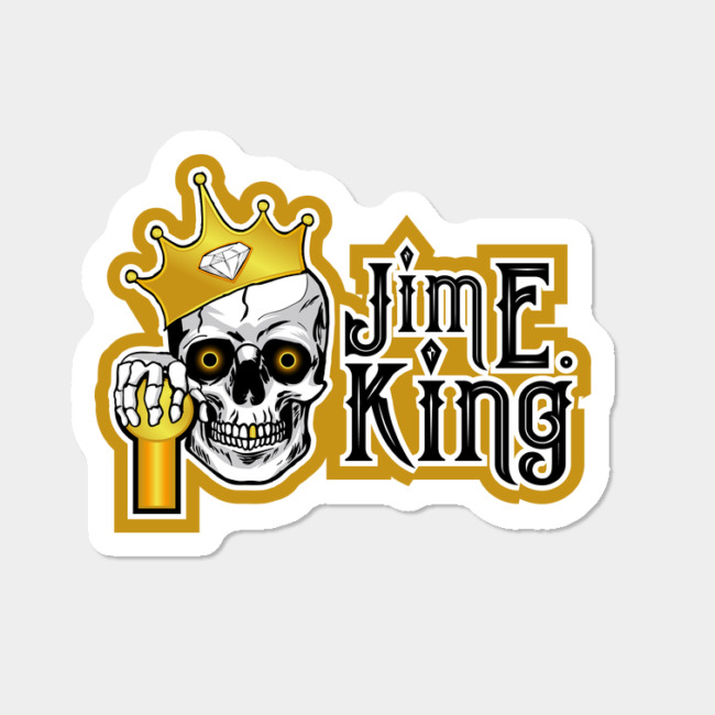 Jim E King Logo Sticker By TheCougheeJoint Design By Humans.