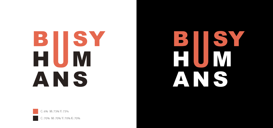 Logo Design for Busy Humans by Maya BankovaMaya Bankova.