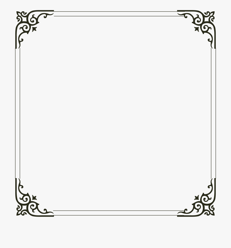 Picture Simple Frame Computer File Border Clipart.