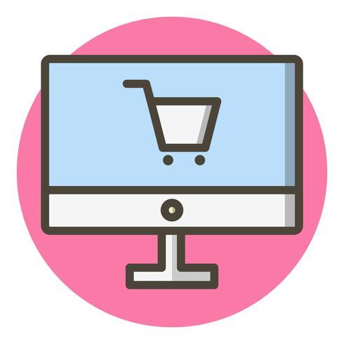 Online Shopping Icon Design.