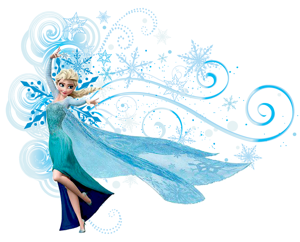 Elsa Frozen Disney Design Clip Art Png.
