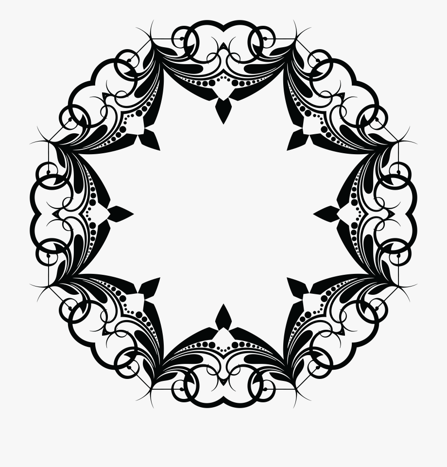 Free Clipart Of A Frame Design Element.