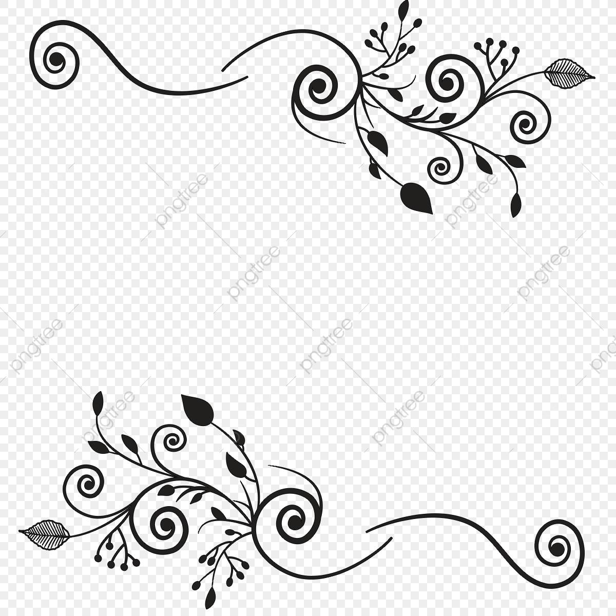 Border Design Element, Floral, Decor, Decoration PNG Transparent.