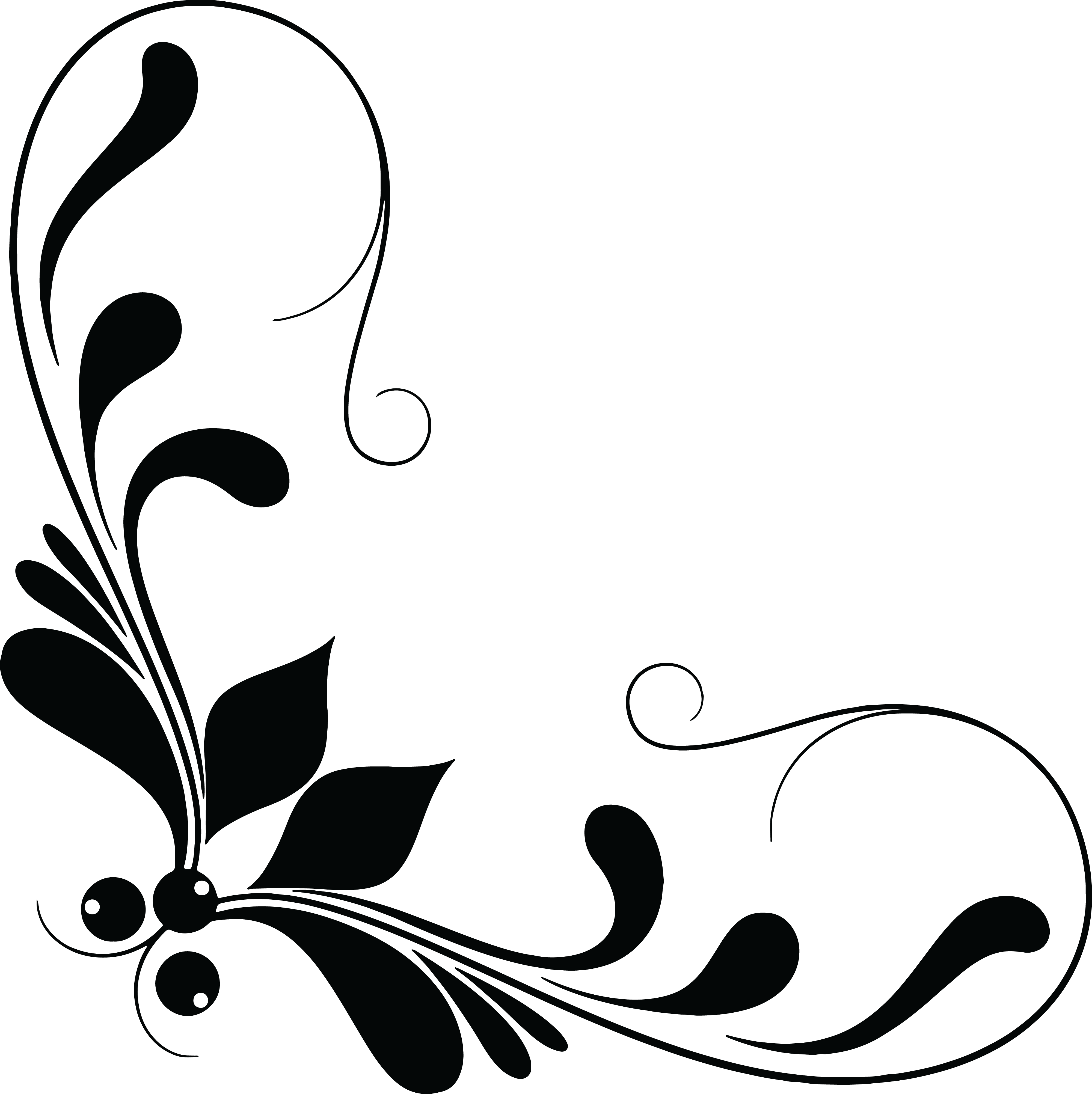 HD Free Clipart Of A Floral Design Element.