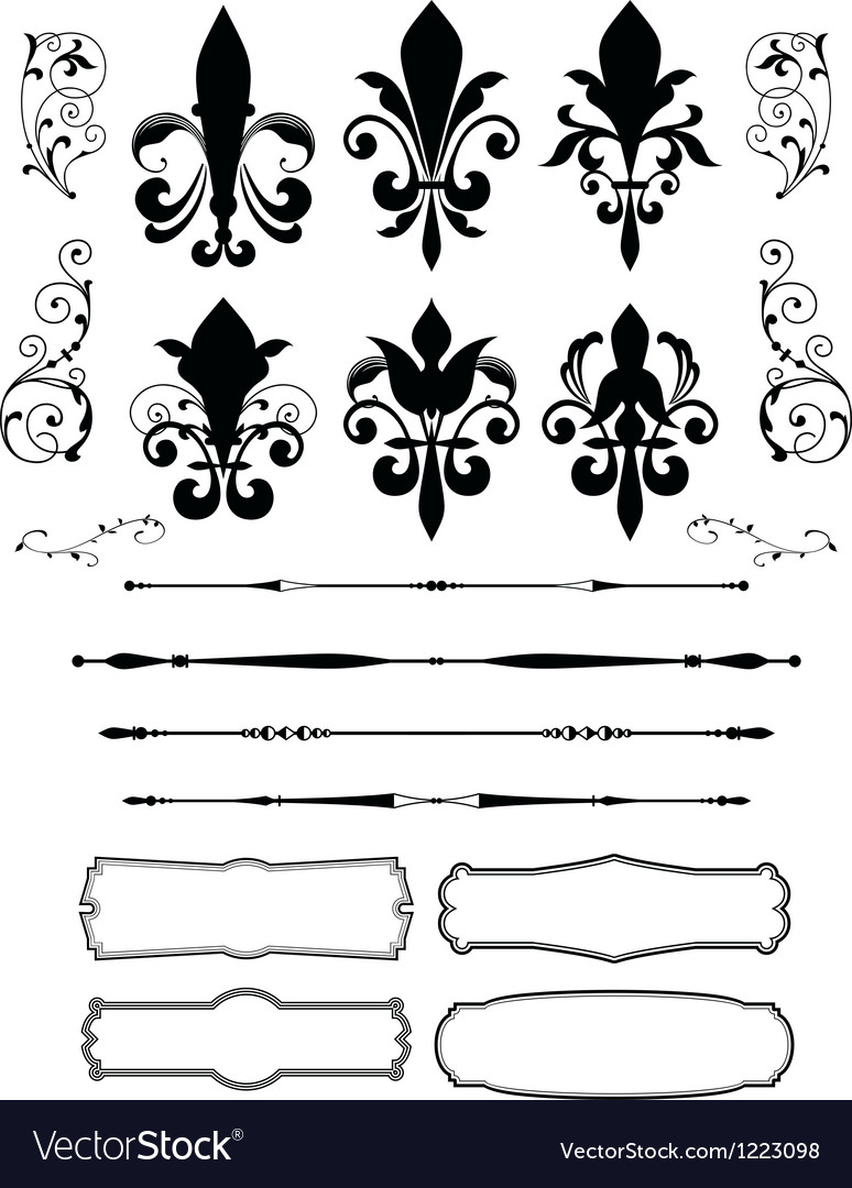 Classical Decorative Design Element.
