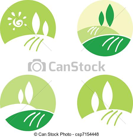 Vector of Abstract Country / Rolling Hills design icons & elements.