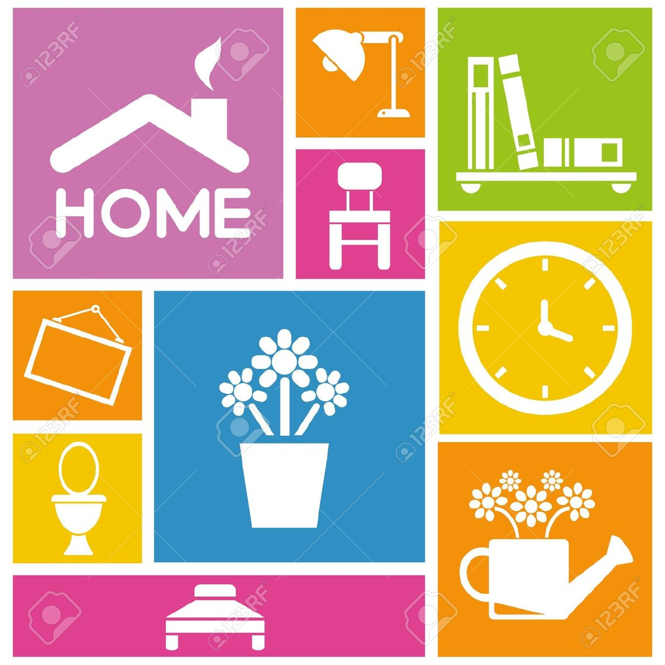interior icon clipart icons background colorful clipground vector cliparts