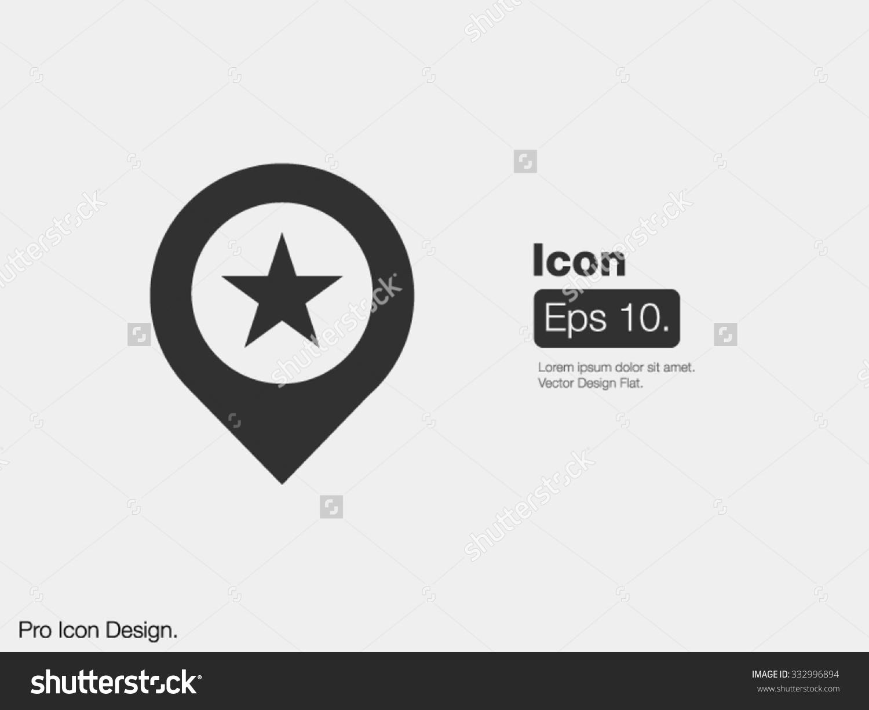 Pointer Pinpoint Icon / Design Icon / Clipart Icon / Flat Style.