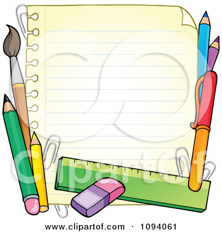 Clipart School Items.