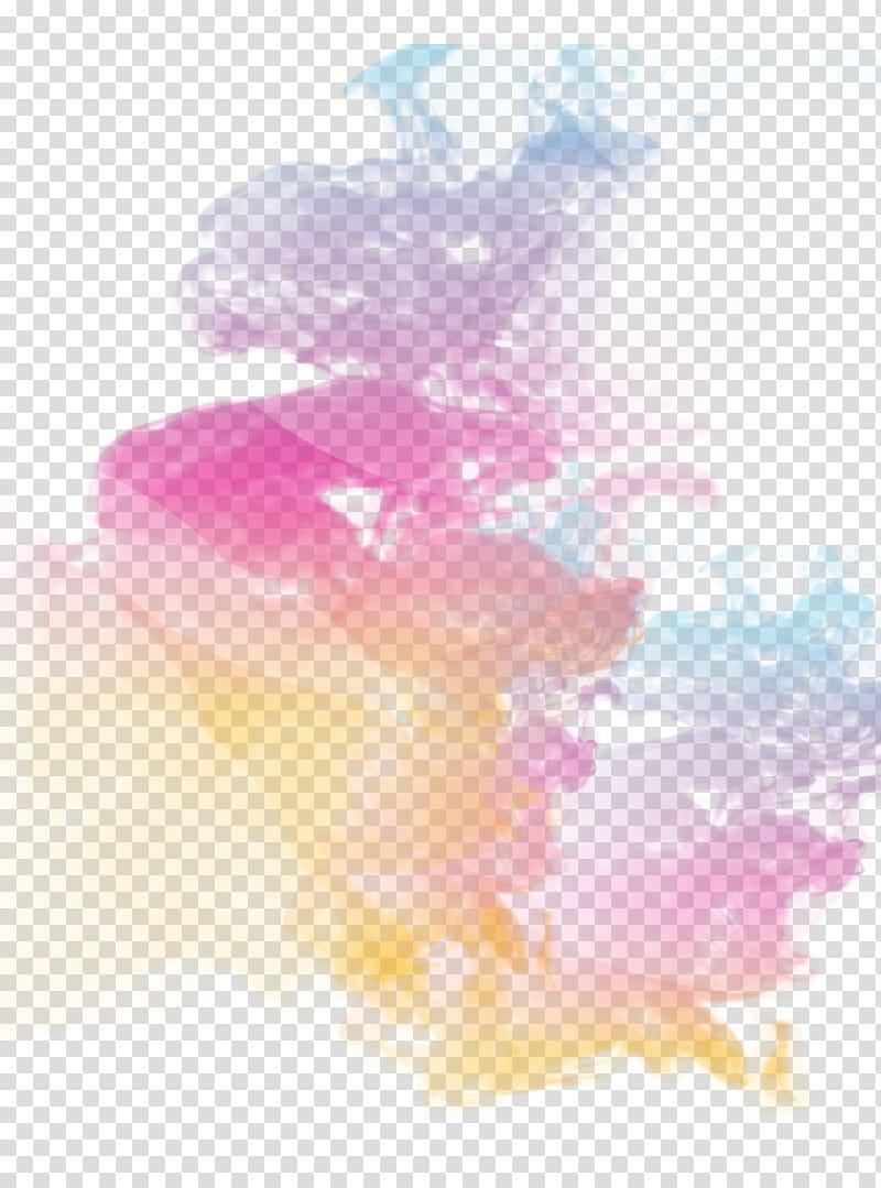 Haze Graphic design, Creative color smoke, pink and yellow smoke.