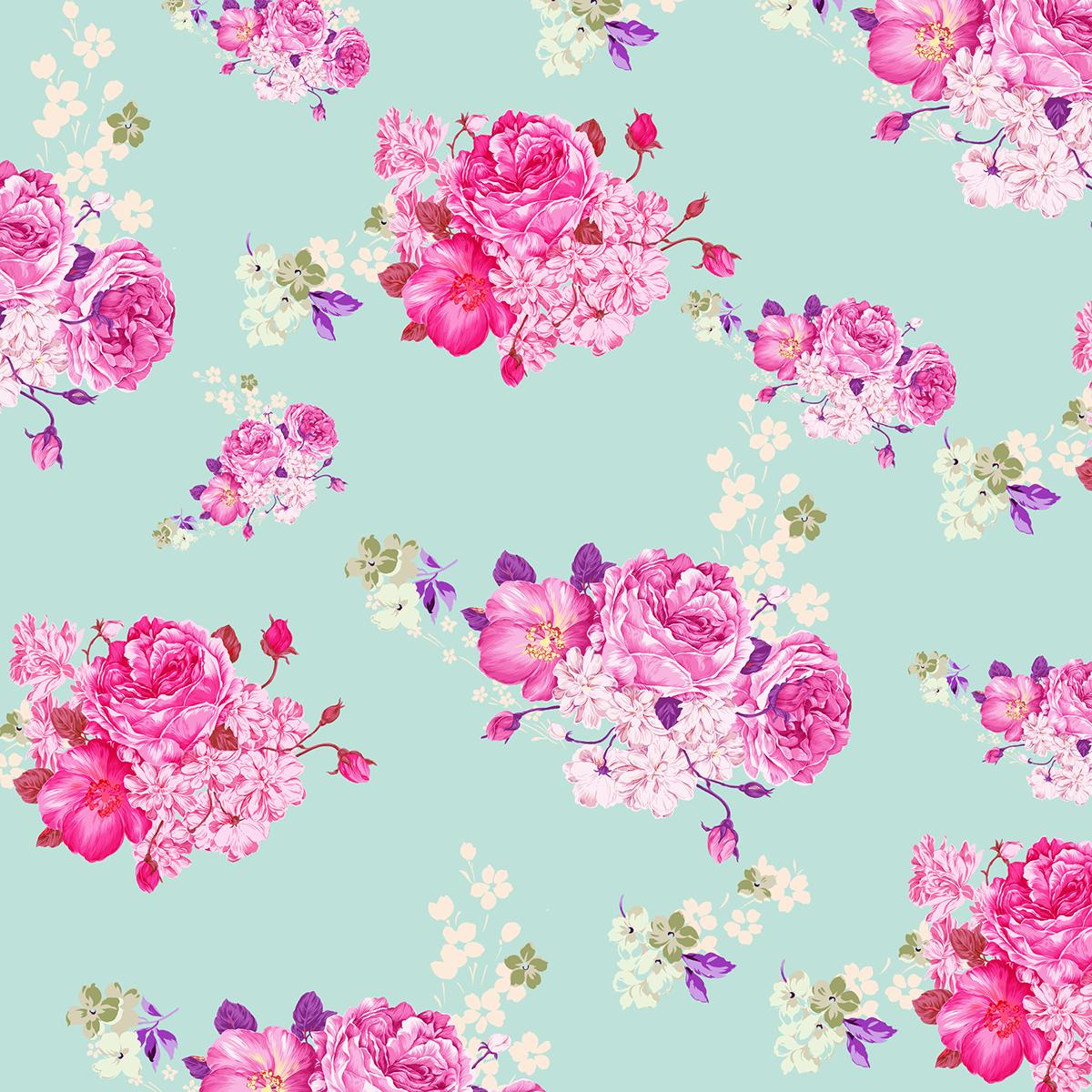 Floral Background Design Png.