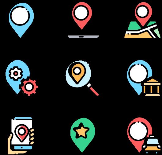 Pins Vector Location Icon.