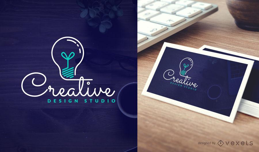 Creative design studio logo template.