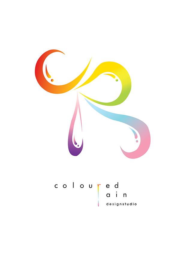 Coloured Rain Design Studio Logo on Behance.