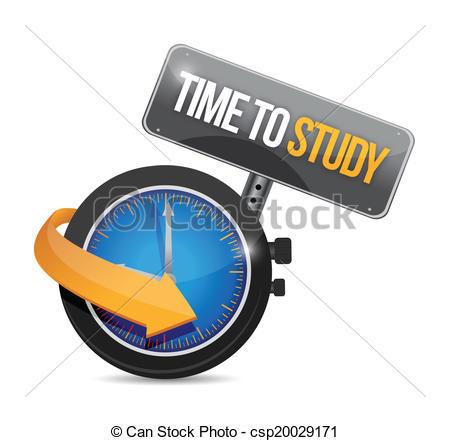 Vectors Illustration of time to study sign illustration design.