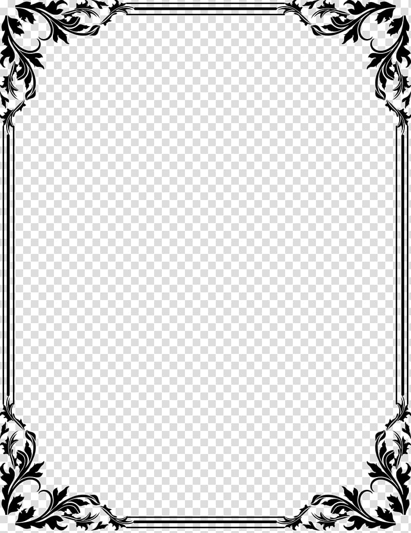 Black floral boarder , Borders and Frames Frames , text.