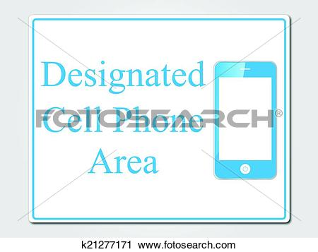 Clipart of Cell phone designated area sign k21277171.