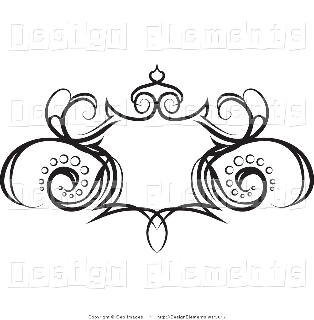 Design Element Clipart of a Grunge Shield Design Element with.