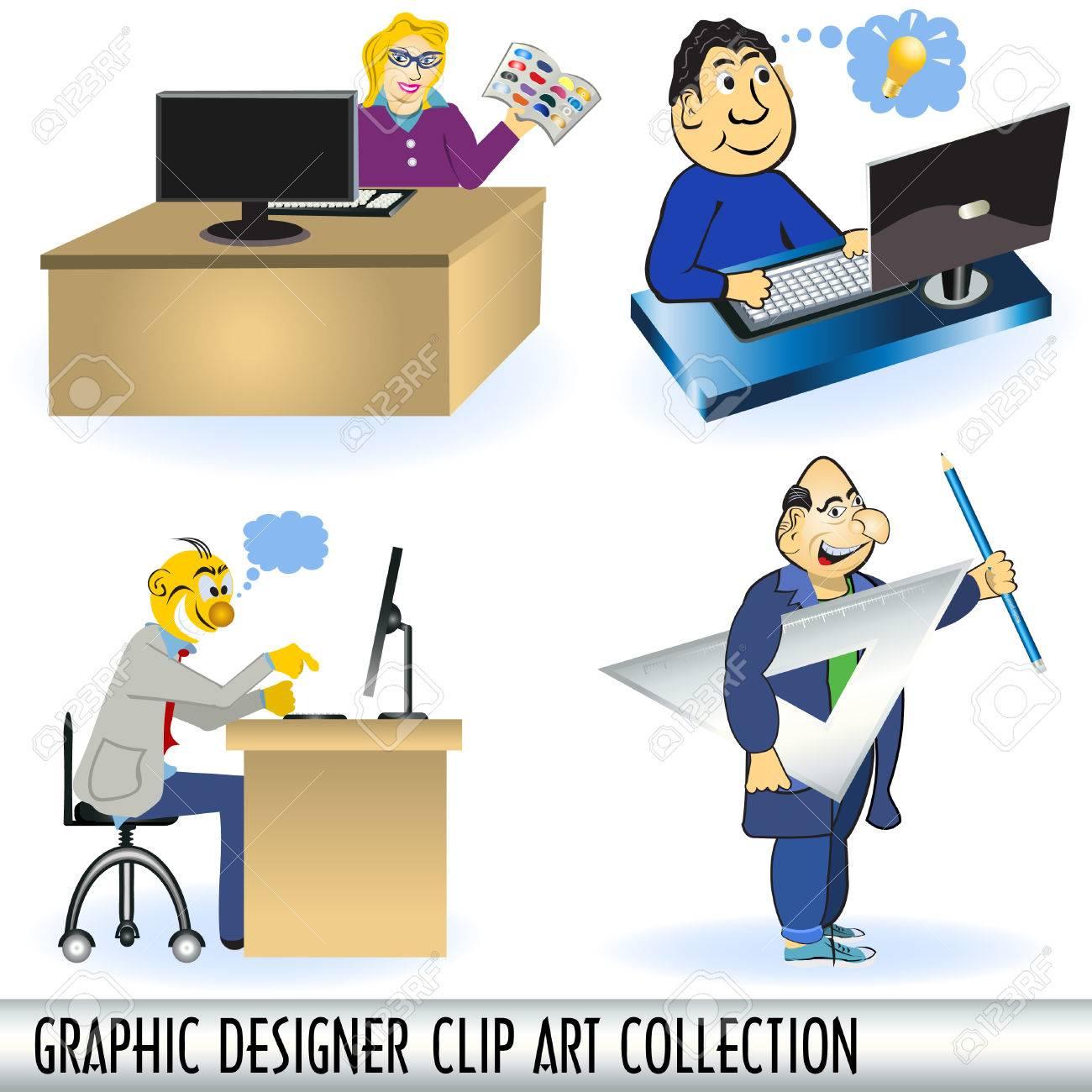Graphic designer clip art collection.