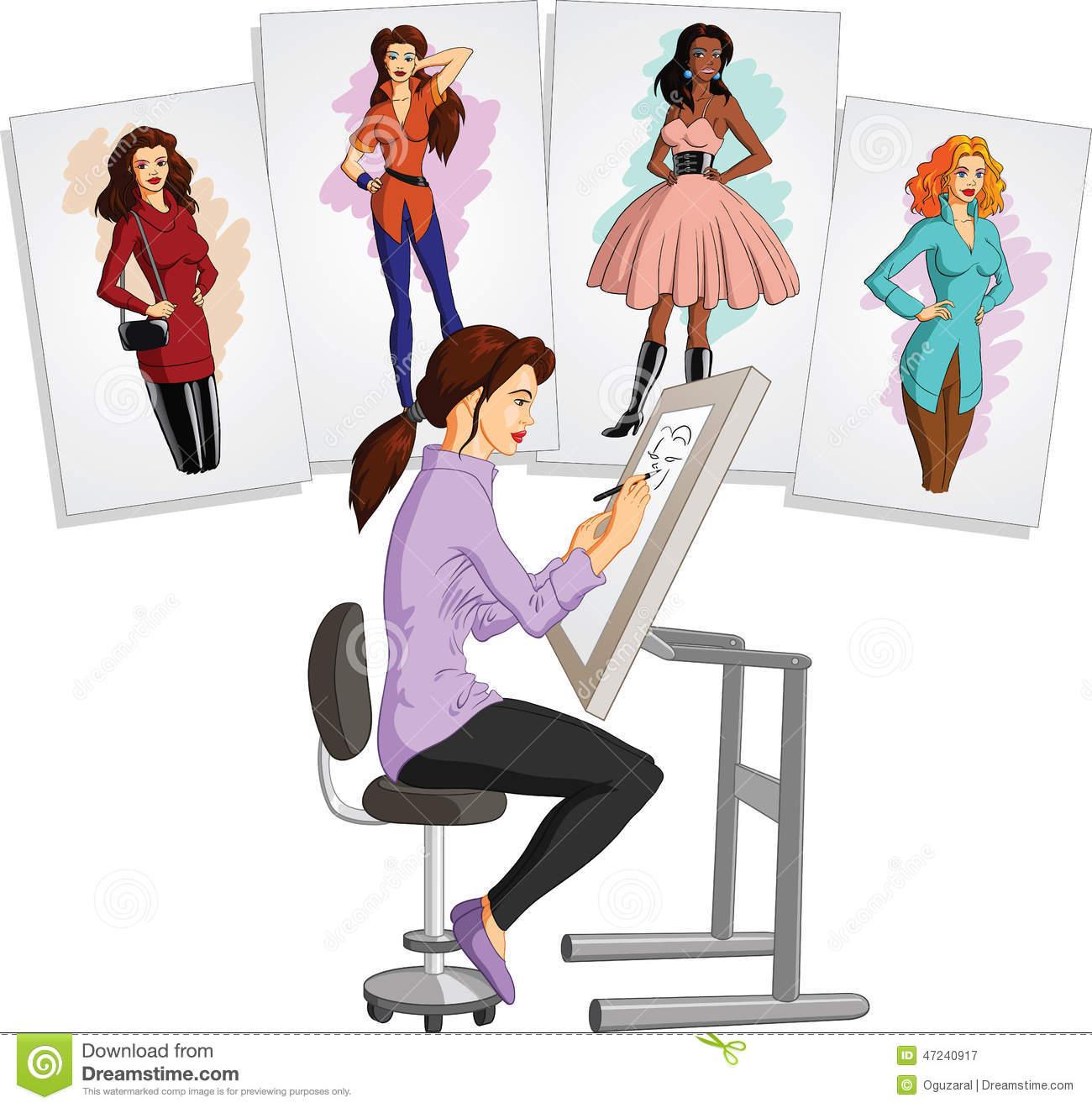 Fashion design clip art.
