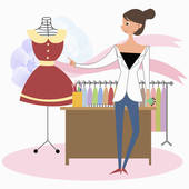 Fashion Designer Clipart.