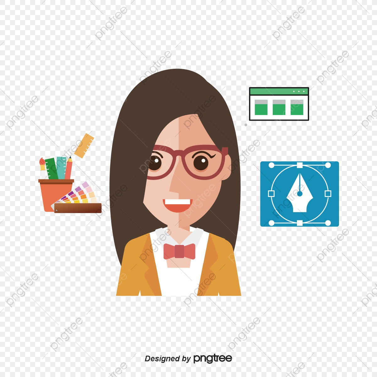 Graphic Designer, Vector Material, Interface Design, Designer PNG.