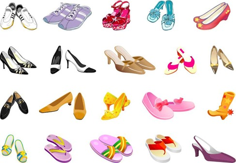 Free Shoes Vector Pack.