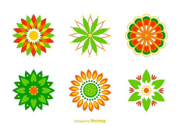 Free Vector Rangoli Designs.