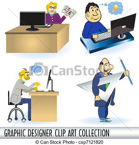 Vector Clipart of Graphic Designer Clip Art Collectio.