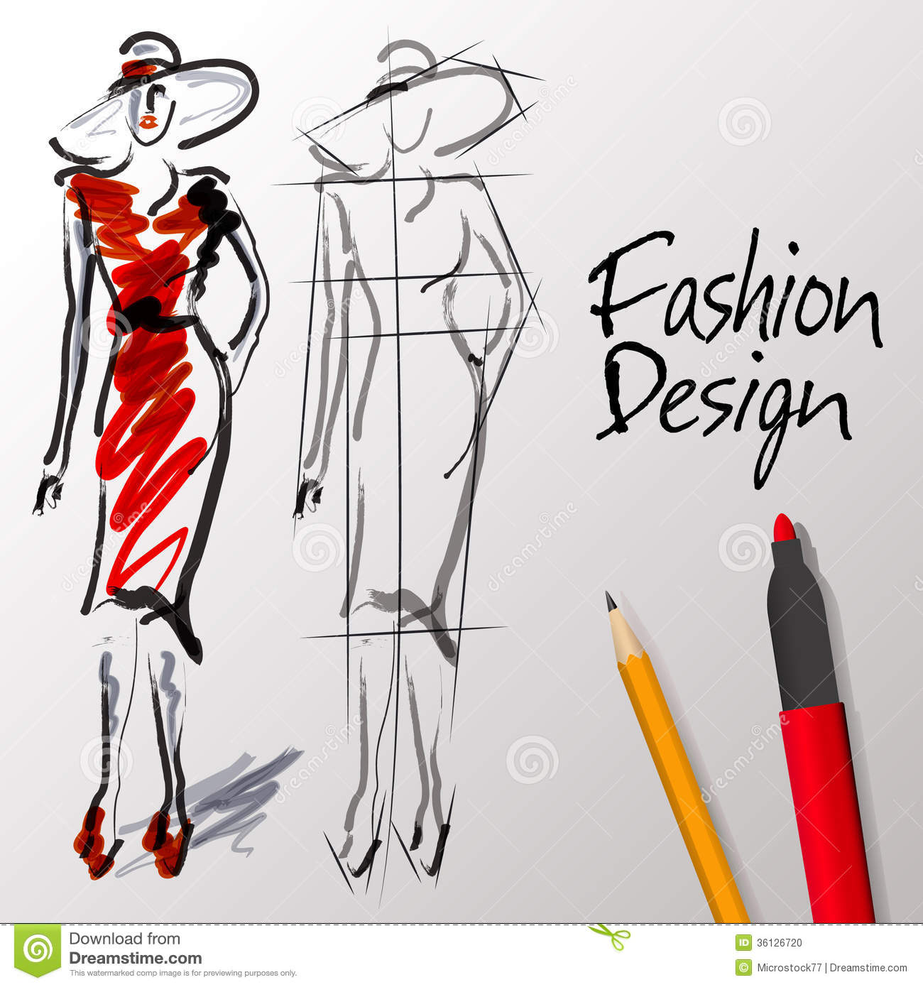 Fashion designing clipart.
