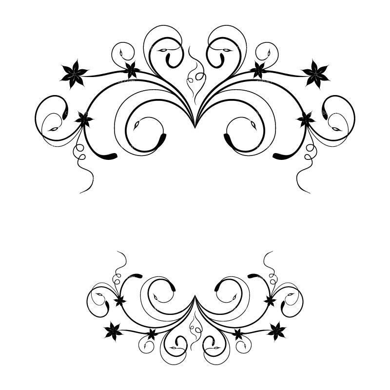Floral designs clip art.